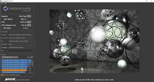 ThinkBook 15 benchmark cinebench r15